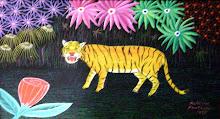 Alfeiro Fontalvo/Tigre/óleo sobre tela /1995