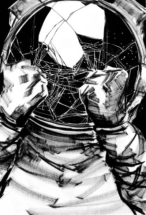 detailed drawings of astronauts - photo #11