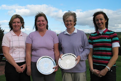 Roisin Black and June Lockhart Winners of the 2006/2007 Winter Foursomes with Runners Up Gillian Kyle and Eva Thomson