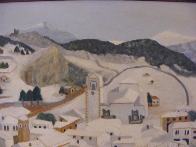 Cuadros y pinturas de Diegosax Paisaje de Grazalema Nevada Vistas (Sierra de Cádiz) Oleo