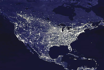 Us Map At Night