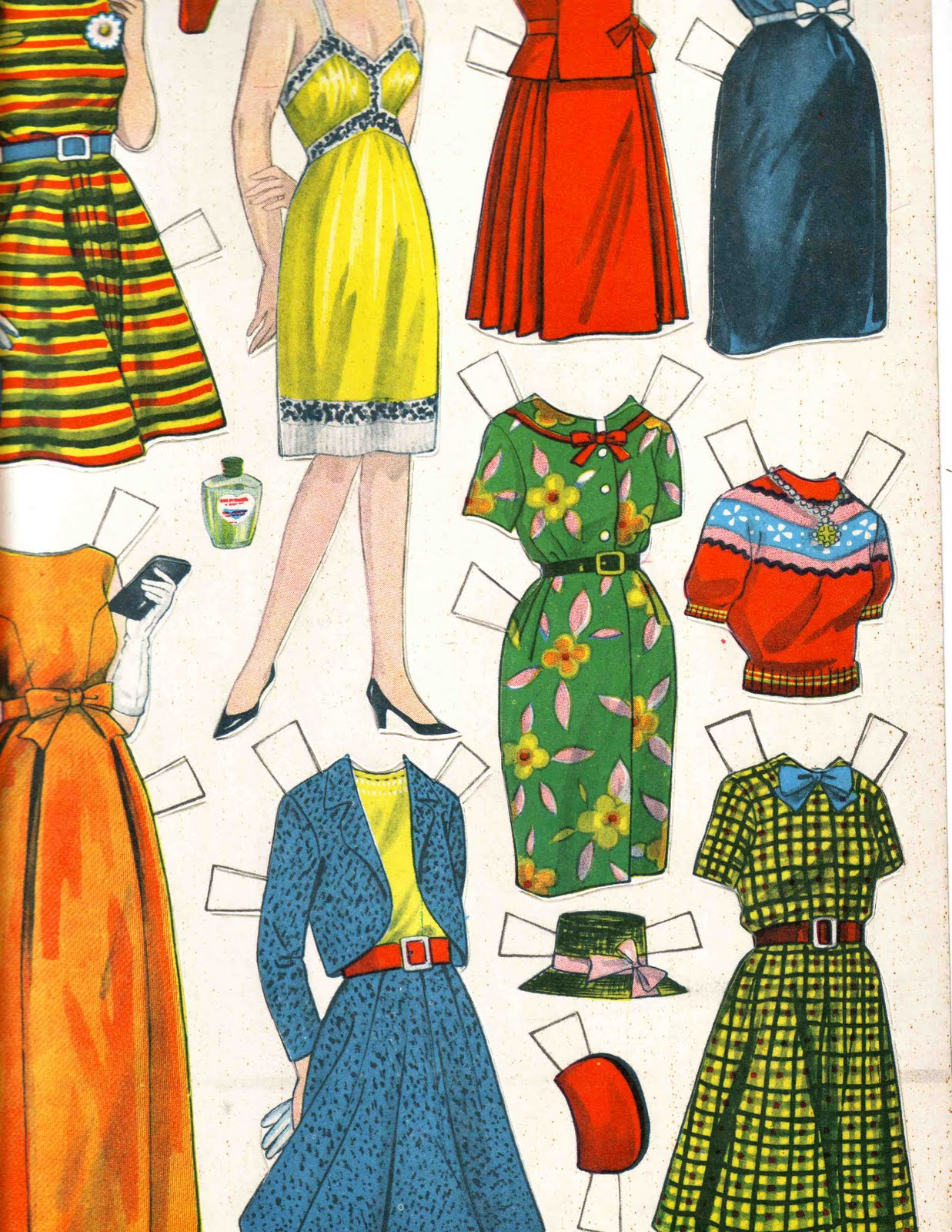 The Washerwoman Vintage Cut Out Dolls