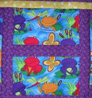 froggy H quilt block