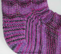 Heel of Purple Waves Sock