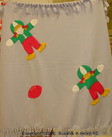 fleece decorated with doll panel cut outs