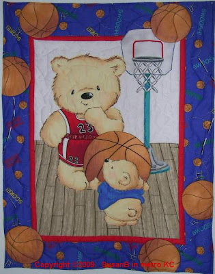 Basketball Bears quilt