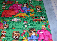 Jungle animals fabric