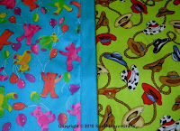 teddy bear & cowboy hat fabrics