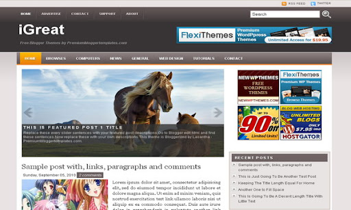 iGreat Blogger Template