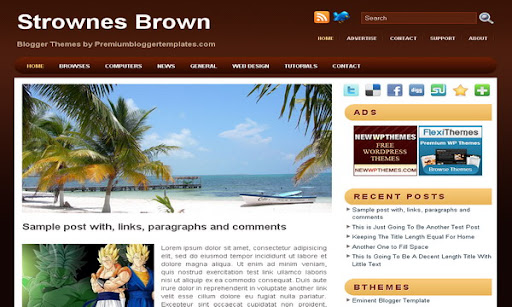 Strownes Brown Blogger Template