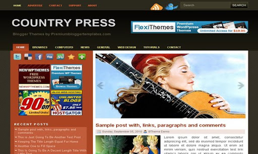 Country Press Blogger Template