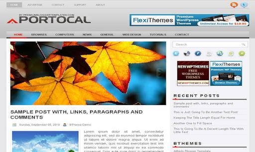 Portocal Blogger Template