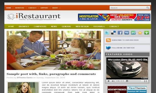 iRestaurant Blogger Template