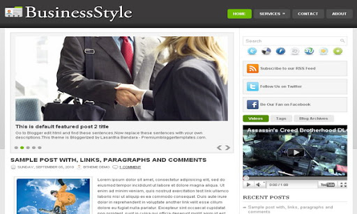 Business Style Blogger Template
