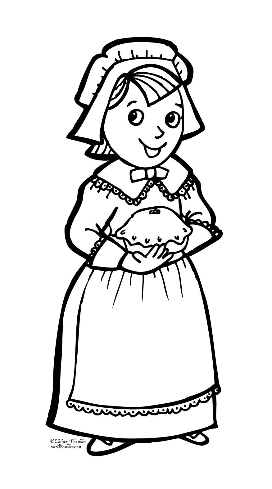 coloring pages for pilgrims - photo#32