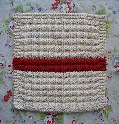 Homespun Living Waffle Knit Dishcloth Pattern