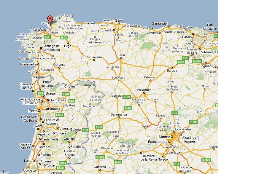 ferrol espanha mapa Casa do Xadrez de Alpiarça: XXV Cidade de Ferrol ferrol espanha mapa