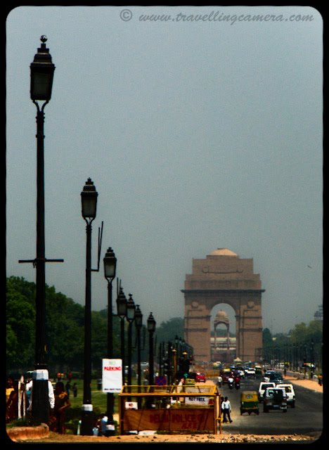 View of India Gate from President's House: Posted by VJ: The India Gate is the national monument of India. It is one of the largest war memorials in India. Situated in the heart of New Delhi, India Gate was designed by Sir Edwin Lutyens. Originally known as All India War Memorial, it is a prominent landmark in Delhi and commemorates the 90,000 soldiers of the erstwhile British Indian Army who lost their lives fighting for the British Indian Empire, or more correctly the British Empire in India British Raj in World War I and the Afghan Wars.It is made up of red sand stone and granite.: VJ, ripple, Vijay Kumar Sharma, ripple4photography, Frozen Moments, photographs, Photography, ripple (VJ), VJ, Ripple (VJ) Photography, VJ-Photography, Capture Present for Future, Freeze Present for Future, ripple (VJ) Photographs , VJ Photographs, Ripple (VJ) : The 42-metre tall India Gate is situated such that many important roads spread out from it. Traffic passing around India Gate used to be continuous until the roads were closed to the public due to terrorist threats.