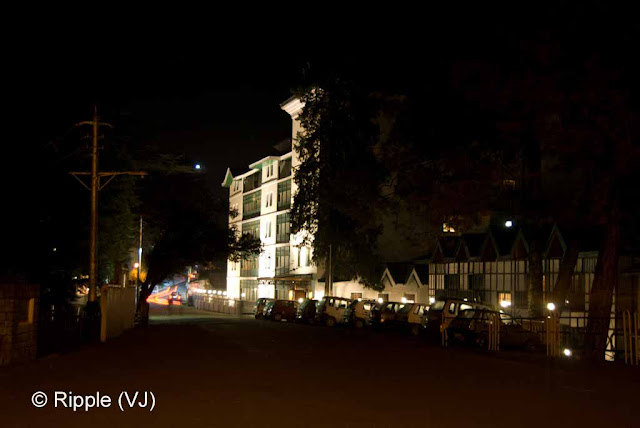 Posted by Ripple (VJ) : Shimla Night View : Cecil Hotel on the way from Viceregal Lodge to Mall road @ Chaura Maidan, Shimla