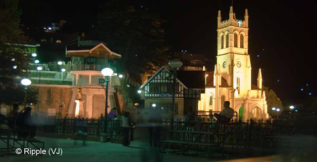 Posted by Ripple (VJ) : Shimla Night View : Shimla Ridge view after 7 pm ...