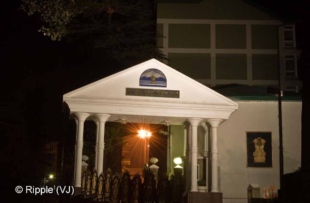 Posted by Ripple (VJ) : Shimla Night View : This building comes when we move from Viceregal Lodge towards Mall Road.