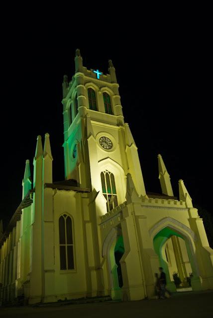 Posted by Ripple (VJ) : Shimla Night View : Church on Shimla Ridge (Night View)