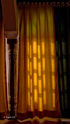 Posted by Ripple (VJ) : A weekend @ Surajgarh Fort : Light Pattern on curtains @ Surajgarh Fort, Rajasthan, India