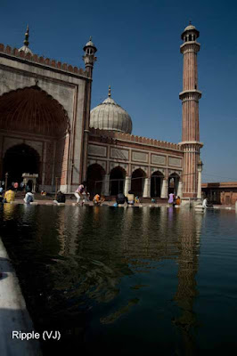 Posted by Ripple (VJ) : Delhi 6 - Jama Masjid : Reflection in the Hauz