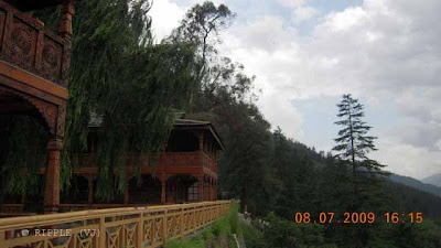 Naggar Castle is situated on the left bank of river Beas at an altitude of 1851m, above sea level. Naggar - an ancient town commands an extensive views, especially of the north west of the valley. Naggar was the former capital of Kullu about 1460 years. It was founded by Raja Visudhpal and continued as a headquarters of the State until the capital was transferred to Sultanpur (Kullu) by Jagat Singh probably by 1460 A.D. Today this ancient and beautiful place is a popular tourist spot in the Kullu valley which has many legends and attractions.  The Castle was converted into a rest house about hundred years back and in 1978 this ancient building was handed over to HPTDC to run as a heritage hotel. This medieval Castle was built by Raja Sidh Singh of Kullu around 1460 A.D., the hotel over looks the Kullu Valley and apart from the spectacular view and superb location, this has the flavor of authentic western Himalayan architecture. Here a gallery houses the paintings of the Russian artist Nicholas Reorich, Naggar also has three other old shrines. Hotel Castle is an unique medieval stone and wood carvings now a HPTDC heritage hotel. It offers a grand view of the valley: Posted by Ripple (VJ) : ripple, Vijay Kumar Sharma, ripple4photography, Frozen Moments, photographs, Photography, ripple (VJ), VJ, Ripple (VJ) Photography, Capture Present for Future, Freeze Present for Future, ripple (VJ) Photographs , VJ Photographs, Ripple (VJ) Photography :