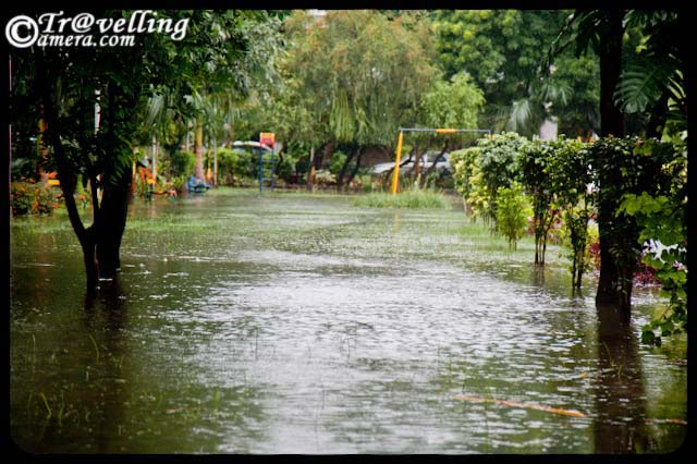 noida parks flooded with water after rains 2010 sector 26 monsoon effect in noida part 1. Black Bedroom Furniture Sets. Home Design Ideas