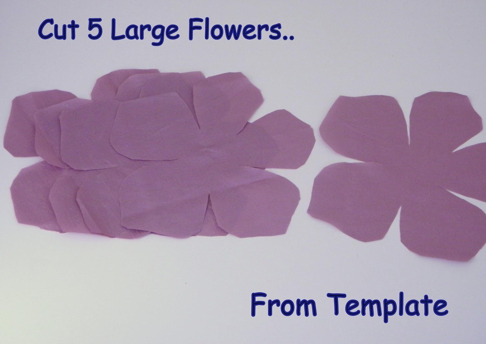 Ruby mines diy tutorial nina ricci inspired flower sash for Paper flower templates martha stewart