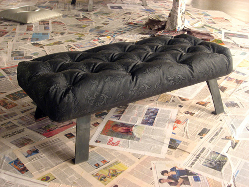 Concretely Fabric Formed Concrete Benches