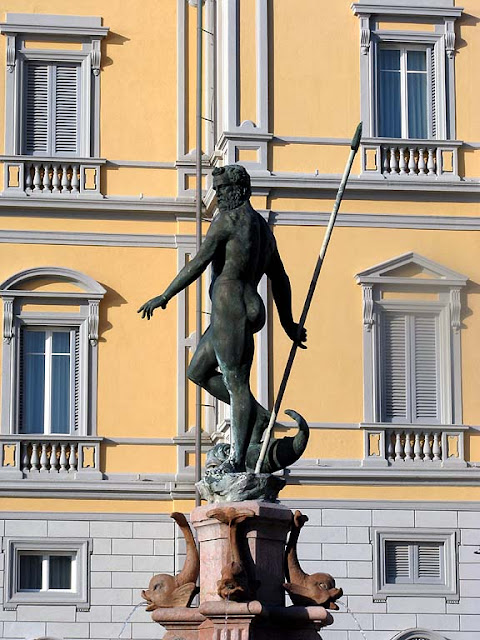 Neptune and the Nereids, fountain, Livorno