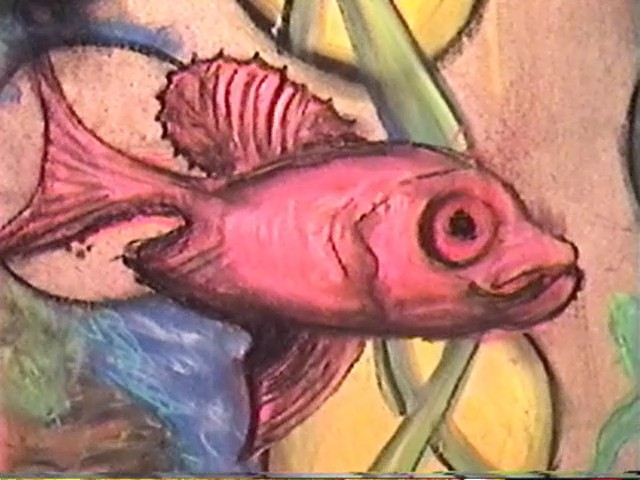 Fish series pastel on MDF