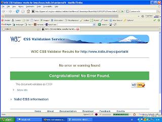 W3C CSS Validation di Italia.it il 27 Febbraio 2007