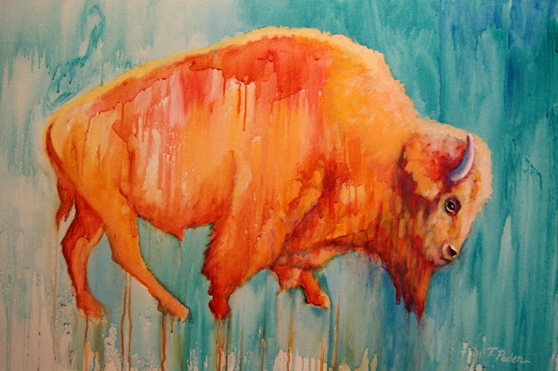 California Artwork Contemporary Western Art Bison