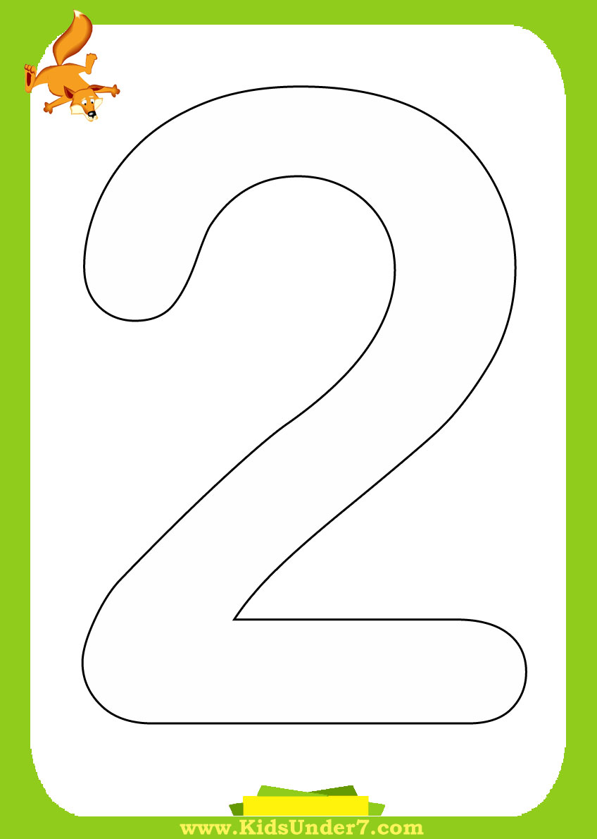 Tracing Number Two Coloring Pages