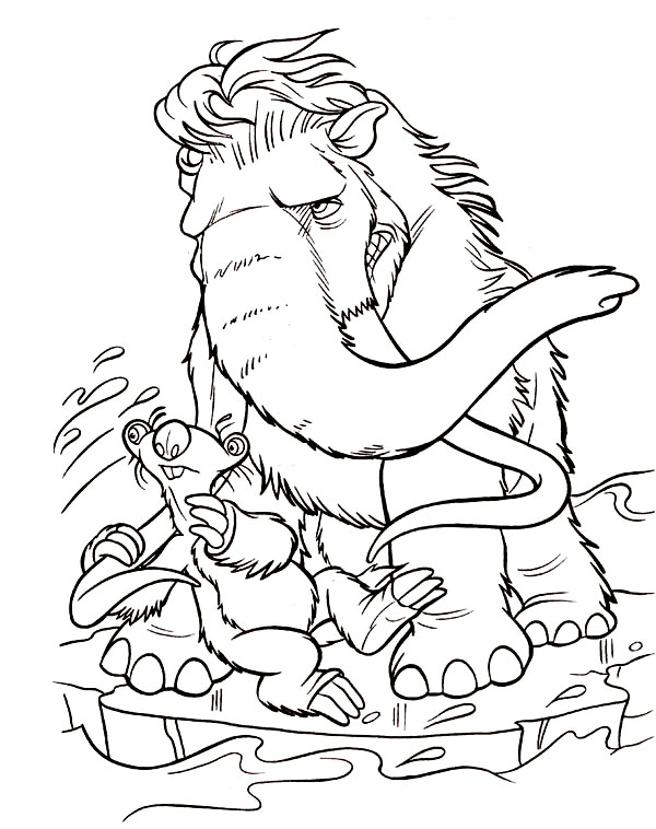 I believe that, that ice age 3 coloring pages and other coloring pages can help to build motor skills of your kid. Kids Under 7 Ice Age Coloring Pages