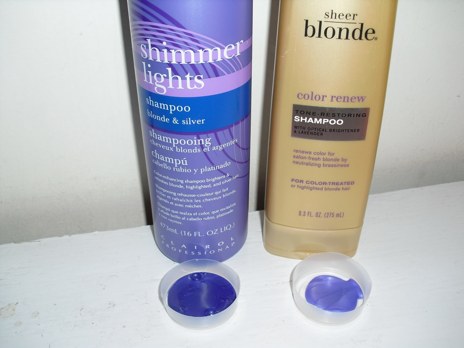 Purple Tinted Color Refreshing Shampoos For Blondes