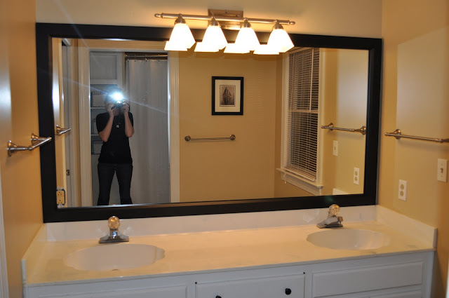 The collected interior mirrormate a mirror transformation - Stick on frames for bathroom mirrors ...