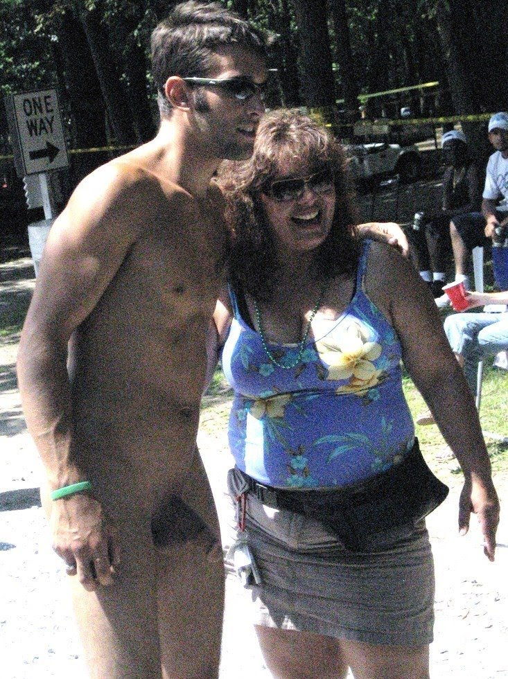 big dicks in public