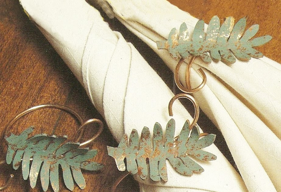 Express Your Creativity Shrink Plastic Leaf Napkin Rings