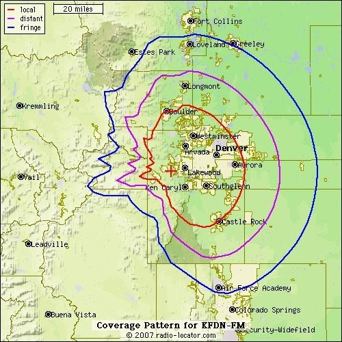 Colorado Public Radio Blog: KVOD 88.1-FM Coverage Area On