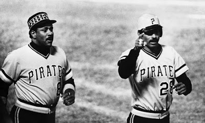 7370dbeb712 Pirates Willie Stargell (left) and Bill Robinson walk toward the dugout  after a Stargell home run against the Baltimore Orioles in a 1979 World  Series game.