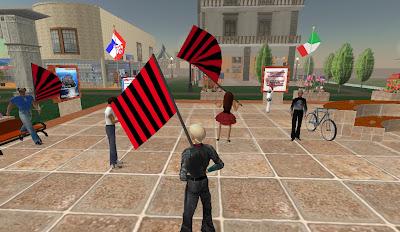Festa per il grande Milan in piazza SL