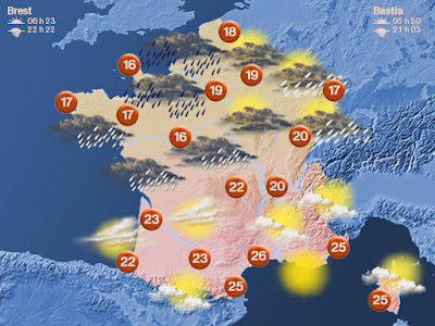 Map Of France Weather.Living The Life In Saint Aignan Rainy Weather Heavy Dog