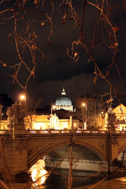 Il Cupolone di notte-Roma