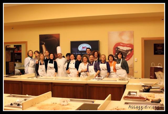 Master fondente alla scuola del cioccolato Perugina a Perugia-Foto di gruppo
