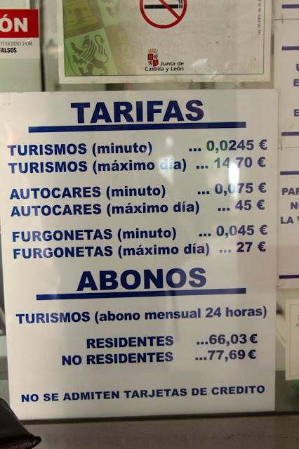 Tariffe del parcheggio-Salamanca