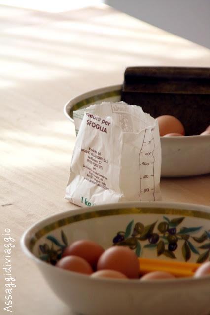 Ingredienti per la sfoglia di pasta